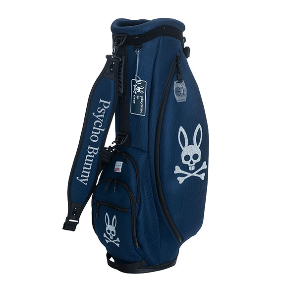 サイコバニー キャディバッグ 9型 5分割 PB Mesh Golf Bag Light UNISEX ゴルフバッグ メンズ レディース Psycho Bunny 【送料無料】