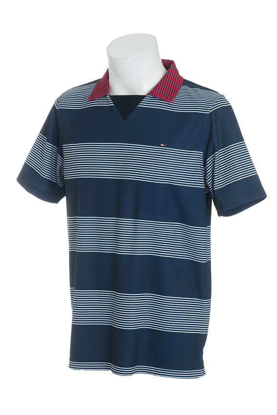 TOMMY HILFIGER GOLF / トミー ヒルフィガー ゴルフ 30%off【送料無料・返品交換不可】2018春夏 18SS BORDER SKIPPER NECK POLO SHIRTS(メンズウェア)