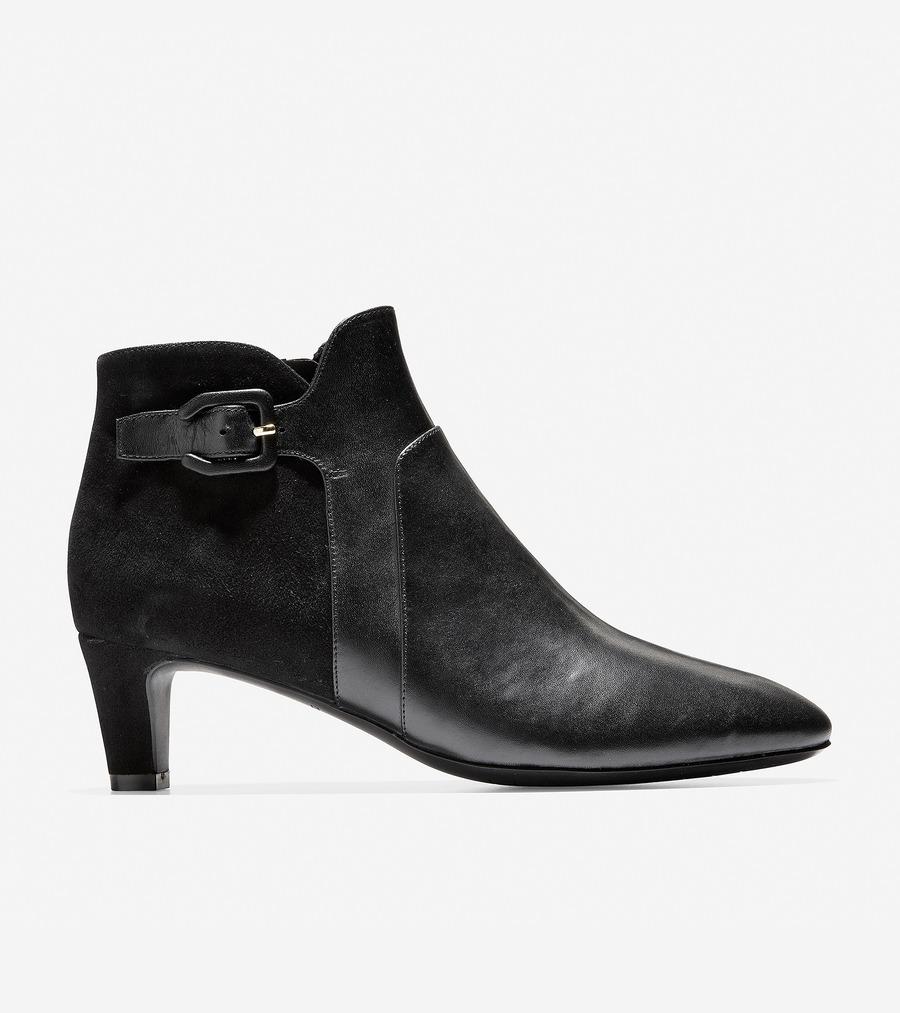 コールハーン Colehaan ウイメンズ シューズ ブーツ & ブーティー シルビア ブーティー womens W11976 ブラック ウォータープルーフ レザー