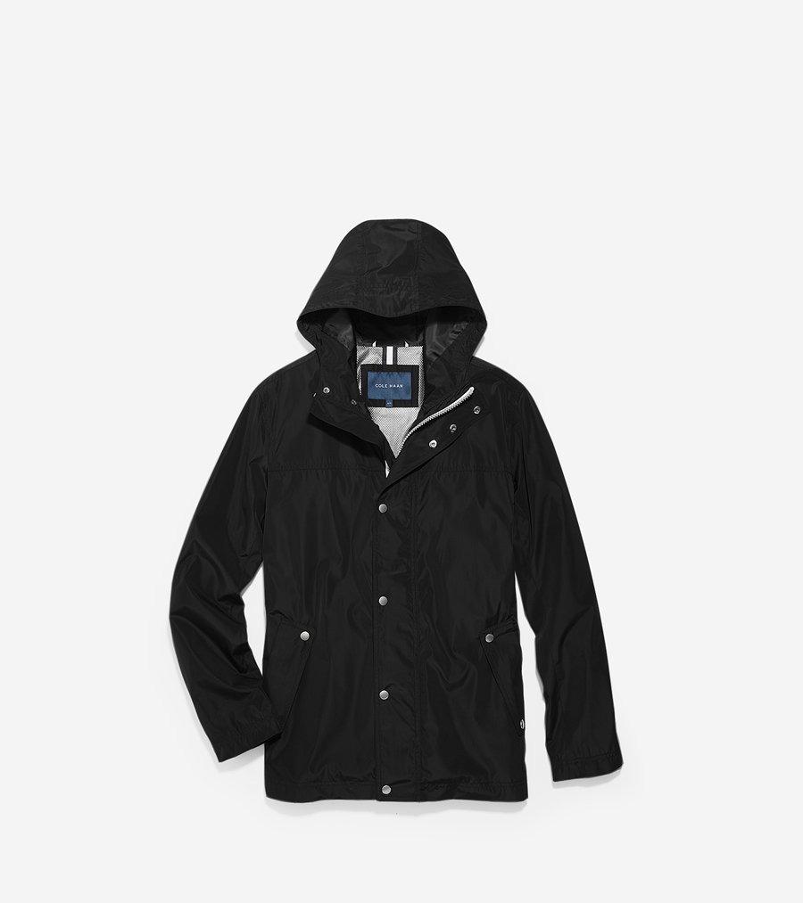 コールハーン Colehaan メンズ アパレル フーテッド レイン ジャケット mens T40142 ブラック