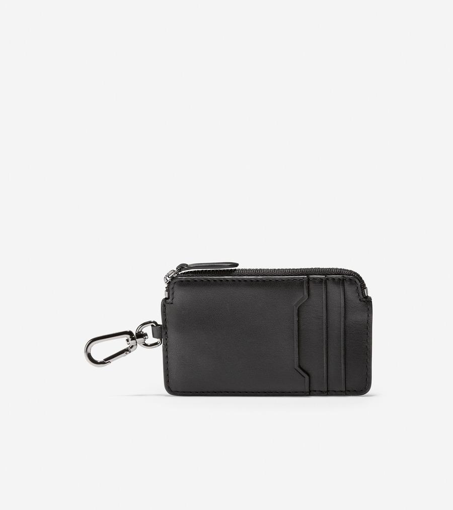 コールハーン Colehaan アウトレット メンズ アウトレット バッグ & アクセサリー 財布 ジップ カード ケース W/ キーリング mens F11440 ブラック