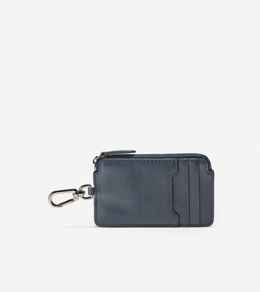 コールハーン Colehaan アウトレット メンズ アウトレット バッグ & アクセサリー 財布 ジップ カード ケース W/ キーリング mens F11443 オンブル ブルー