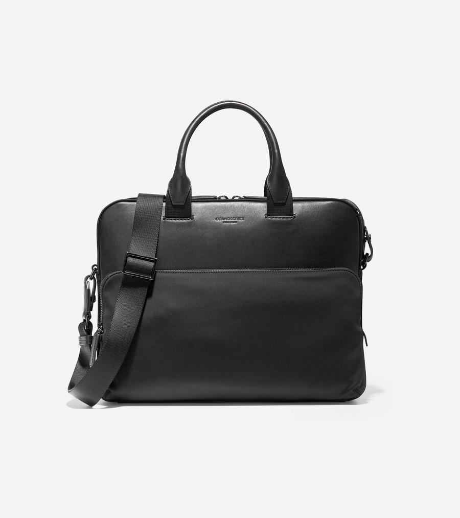 コールハーン Colehaan メンズ バッグ & アクセサリー バッグ ナイロン W/ レザー 24HR アタッシェ mens F11336 ブラック