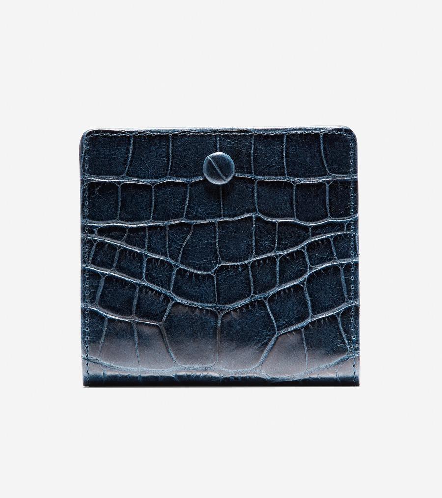 コールハーン Colehaan ウイメンズ バッグ & アクセサリー 財布 & ポーチ スモール ウォレット womens U04212 マリンブルー クロコ