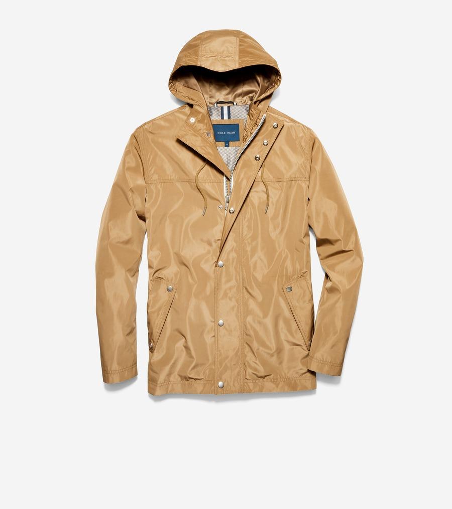 コールハーン Colehaan メンズ アパレル フーテッド レイン ジャケット mens T40190 カーキー