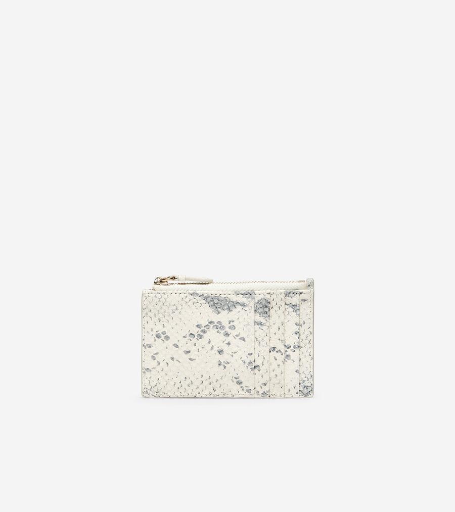 コールハーン Colehaan ウイメンズ バッグ & アクセサリー 財布 & ポーチ カード ケース W/ ジップ womens U04484 アイボリー ロッシャ