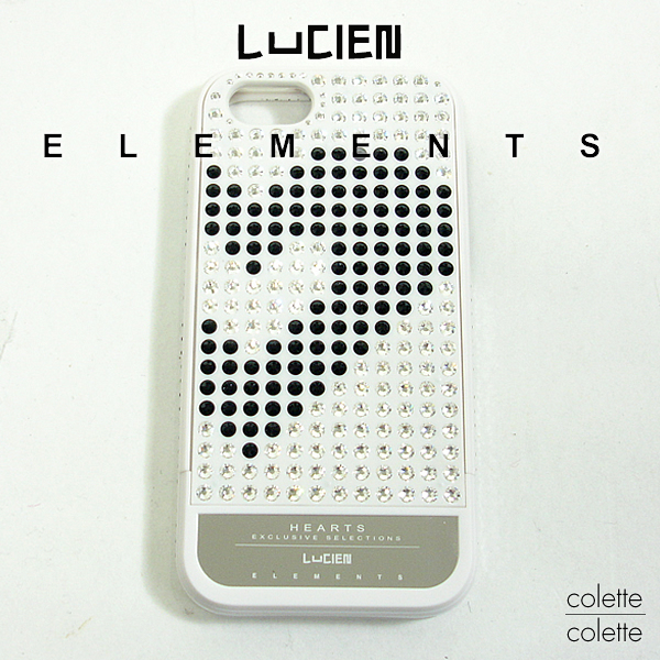 【 SALE サンプル品 箱無し 若干の小キズあり 】 LUCIEN ELEMENTS ルシアン エレメンツ iPhone5 ケース iPhone 5対応 hearts スワロフスキーiフォンカバーケースi phone5 ルシアンエレメンツ LUCIEN ELEMENTS iphone5 ケース ブランド HEARTS ハーツ