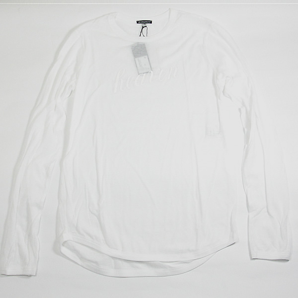 ★SALE★ ANN DEMEULE MEESTERメンズ■HEAVEN ヘブン ロングスリーブTシャツ ホワイト×ホワイトアンドールメステールメンズ