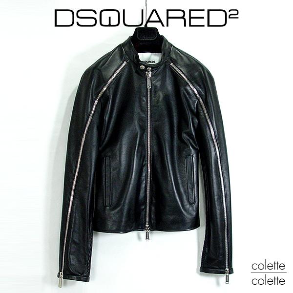 ディースクエアード DSQUARED2 メンズ シングルライダース ディースク レザーライダー dsquared2 【正規品】 DSQUARED2 ( ディースクエアード ) メンズ ライダー dsquared