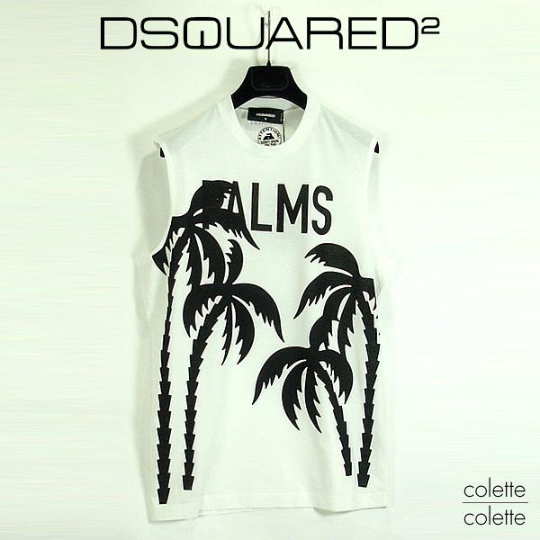 【SALE】ディースクエアード DSQUARED2 ディースクエアードメンズ tシャツ 【正規品】 ディースク 『PALMS』Tシャツ dsquared2 DSQUARED2 ( ディースクエアード )メンズ ノースリーブTシャツ dsquared