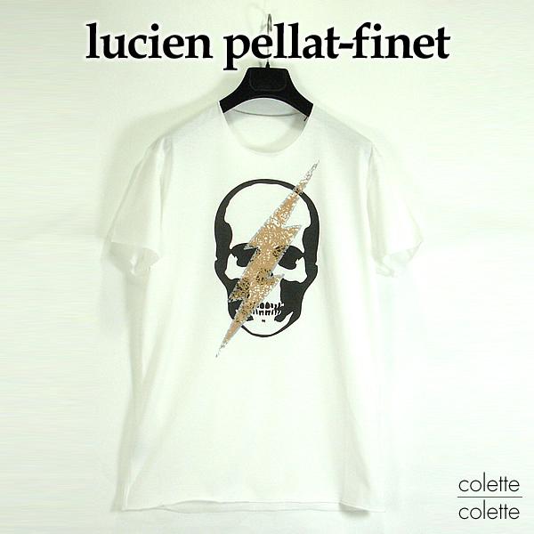 【SALE】ルシアンペラフィネ ( lucien pellat-finet ) ルシアンペラフィネメンズTシャツ 【正規代理店品】 『 SKULL FLASH 』 スカル LUCIEN PELLAT-FINET ( ルシアン ペラフィネ ) Tシャツ スカル