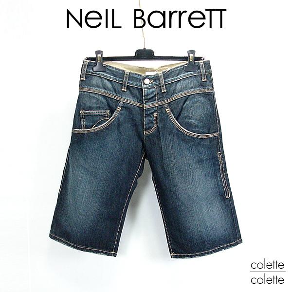 【SALE】ニールバレット(Neil Barrett)メンズデニムNEIL BARRETT ニール ハーフジーンズ  neil barrett(ニールバレット)ハーフデニムパンツ