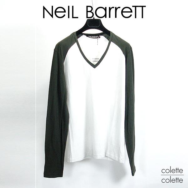 【SALE】ニールバレット neil Barett メンズロンT 【正規品】NEIL BARRETT ベースボール風ロンT  Neil Barett(ニール バレット)メンズロンT