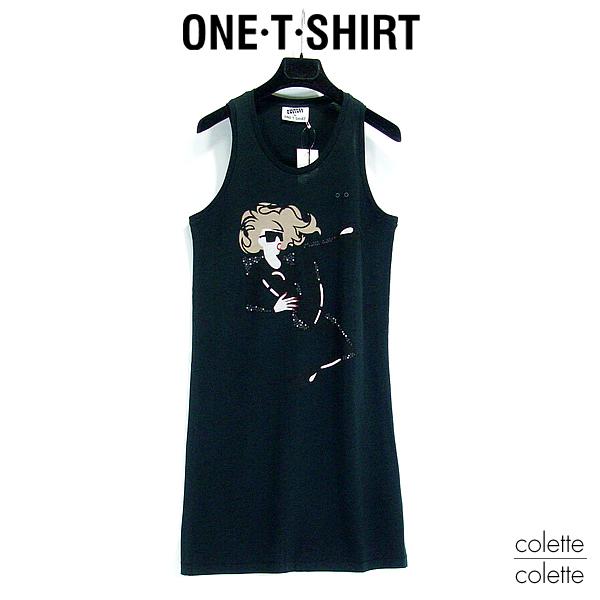 ONE-T-SHIRT ワンTシャツ レディース チュニックワンピース ブラック ■ ロックT 『 Lady Gaga 』レディーガガ 【正規品】 ONE-T-SHIRT ワンTシャツ レディース ワンピース LADY GAGA レディーガガ