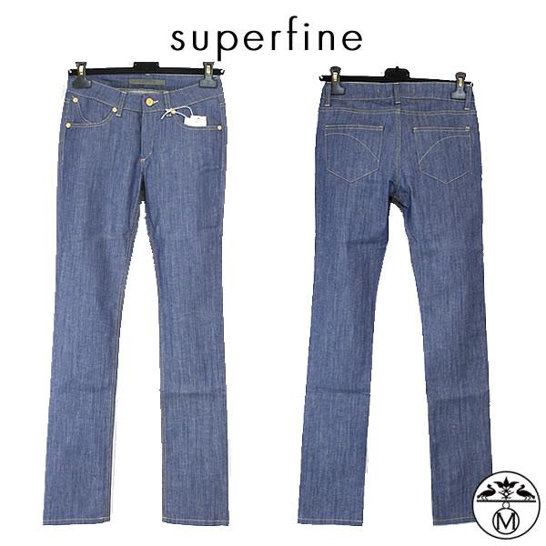 【SALE】superfine(スーパーファイン)レディースデニム  ■ブルーストレッチデニム テーパードスキニーパンツ harryハリー superfine(スーパーファイン)レディーススキニーデニム