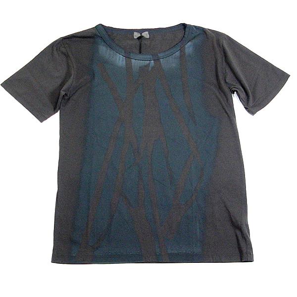 SUPER FINE (スーパーファイン)メンズロックT■ZIP PRINT Tシャツ グレー×ブラックSUPER FINE (スーパーファイン)メンズロックT
