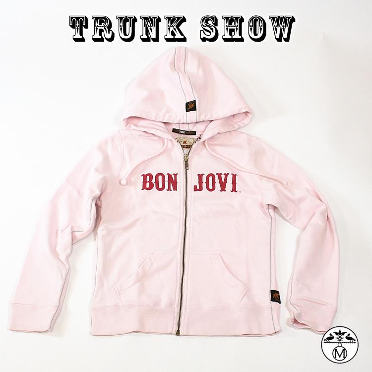 トランクショーTRUNK SHOW(トランクショー)キッズパーカープルオーバーパーカー ボン・ジョヴィ(Bon Jovi)TRUNK SHOW(トランクショー) ピンク キッズパーカー