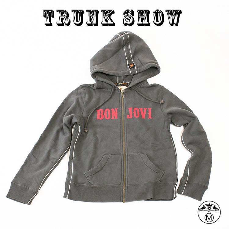 トランクショーTRUNK SHOW(トランクショー)キッズパーカープルオーバーパーカー ボン・ジョヴィ(Bon Jovi)TRUNK SHOW(トランクショー) チャコールグレー キッズパーカー