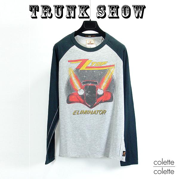 【SALE】トランクショーTRUNK SHOW ( トランクショー ) メンズ ■ ロックTシャツ ラグランスリーブ ロンT ZZ TOP TLIMINATOR1983 TRUNK SHOW ( トランクショー )メンズ ロンT ZZ TOP TLIMINATOR1983