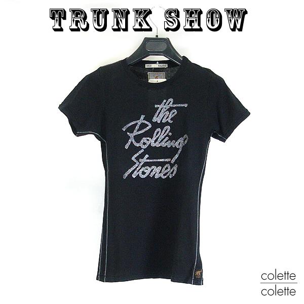 【SALE】トランクショーTRUNK SHOW トランクショー レディース Tシャツ ロックTシャツ  レディース Tシャツ THE ROLLING STONES (ローリングストーンズ ) ブラック 黒
