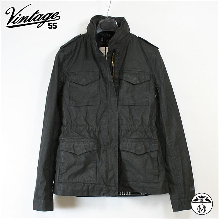 ヴィンテージ55 Vintage55 ( ヴィンテージ55 )レディース□M65タイプ ジャケット チャコールグレー ★GANGS OF NEW YORK★ Vintage55 ( ヴィンテージ55 )