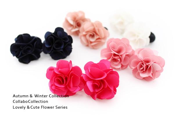 【miniゴム】2本セットヘアゴム★サテンフォーマル3cmお花