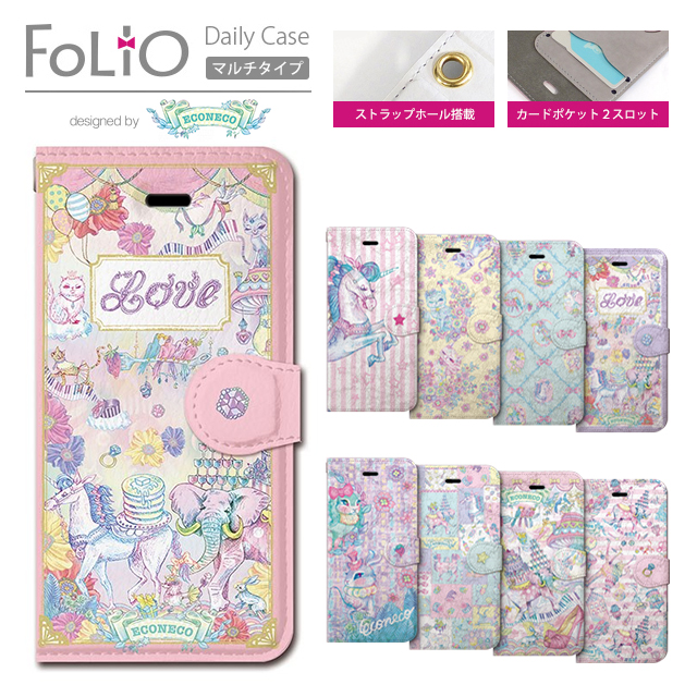 Collaborn colaboran Folio Folio Apple iPhone5 iPhone5S notebook case diary leather case strap hole card storage book type econeco (kitten pictures)