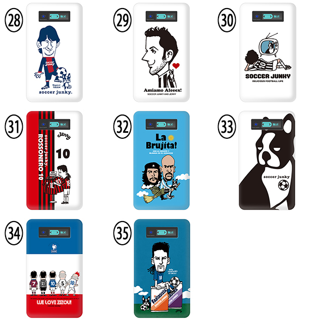 Soccer Junky(축구 중독자) 일본 대표 모바일 배터리 4000 mAh 경량극박콤팩트 전기종 대응 iPhone [iPhoneSE iPhone6 iPhone6S iPhone5S iPhone6Plus iPhone6sPlus iPhone5c] Android 스마호스마트폰아이폰 대용량 충전기 휴대