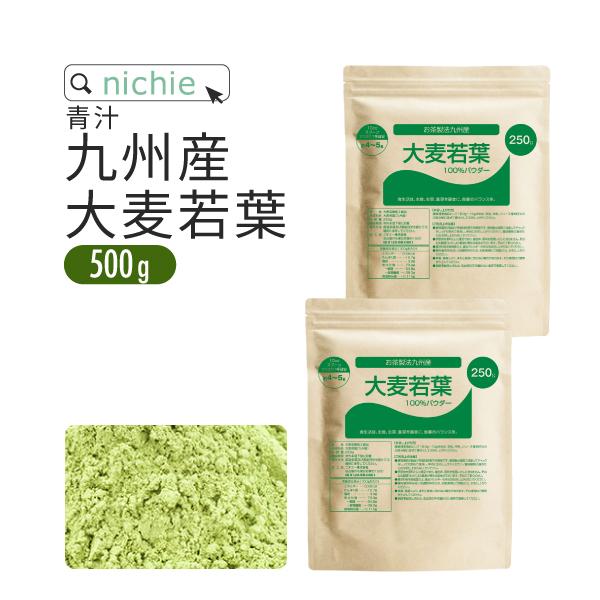 日本の伝統的なお茶を作る際の製茶製法で仕上げた 大麦若葉 青汁 パウダー サプリ 大麦若葉青汁 送料無料でお届けします 国産 500g 九州産 無添加 nichie H10 にした をすぐ加工し ニチエー 新鮮な 再販ご予約限定送料無料 粉末