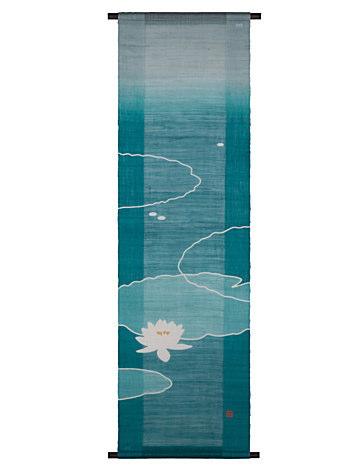 京都洛柿庵 手描きタペストリー 涼花