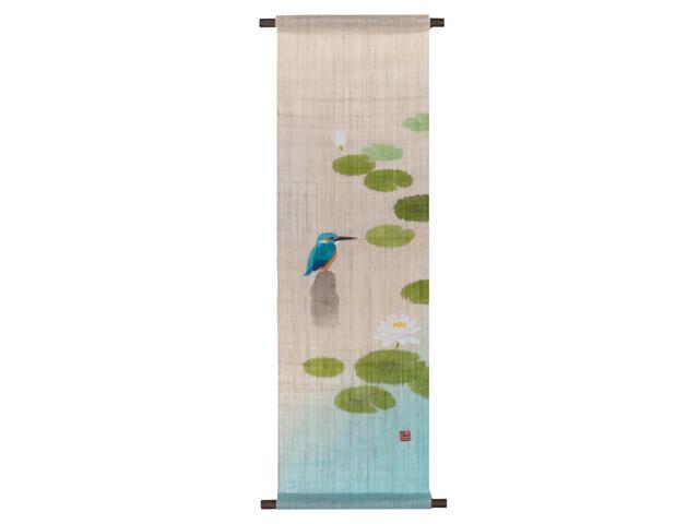 京都洛柿庵 手描き・手染めタペストリー とまりぎ