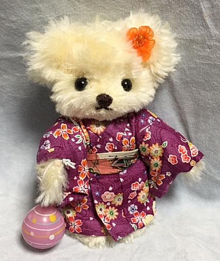 神林宜子製作テディベア秋祭り 紫絵