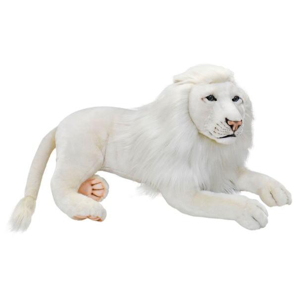 ハンサ【HANSA】ぬいぐるみホワイトライオン オス65