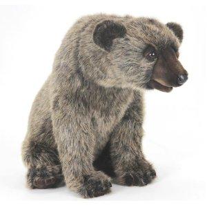 ハンサ【HANSA】ぬいぐるみハイイログマ 灰色クマ60cm