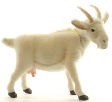 ハンサ【HANSA】ぬいぐるみ白ヤギ48cm