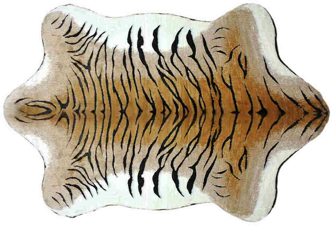 ハンサ【HANSA】フロアラグ トラ柄ジャガード織り生地使用