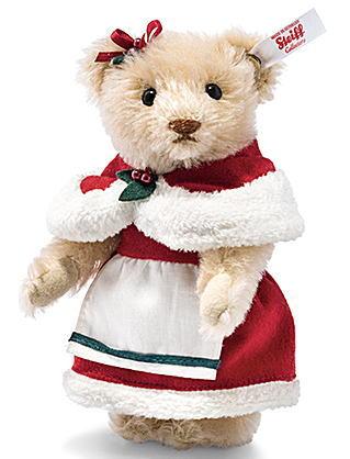 Steiff シュタイフ 世界限定テディベア ミセスクロースクリスマス飾り ヒイラギ 木の実あす楽対応 即日発送可