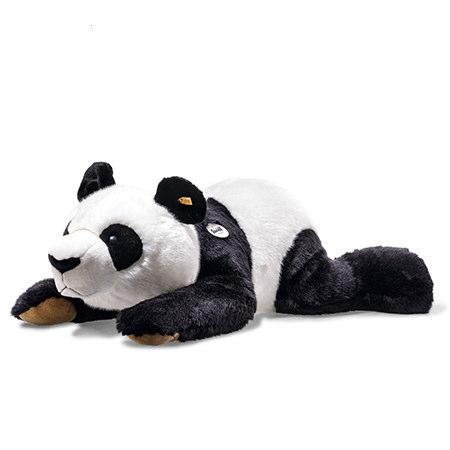 Steiff シュタイフ 定番商品寝そべりパンダ 85cmあす楽対応 即日発送可ぬいぐるみ 人気 特大 抱き枕になる