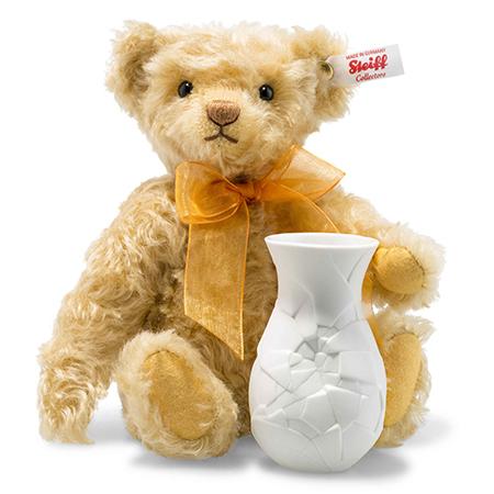 Steiff シュタイフ 世界限定テディベア サンフラワー花瓶つき