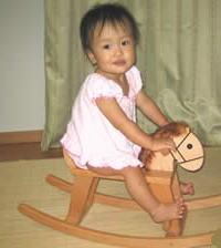 木のおもちゃ 木馬