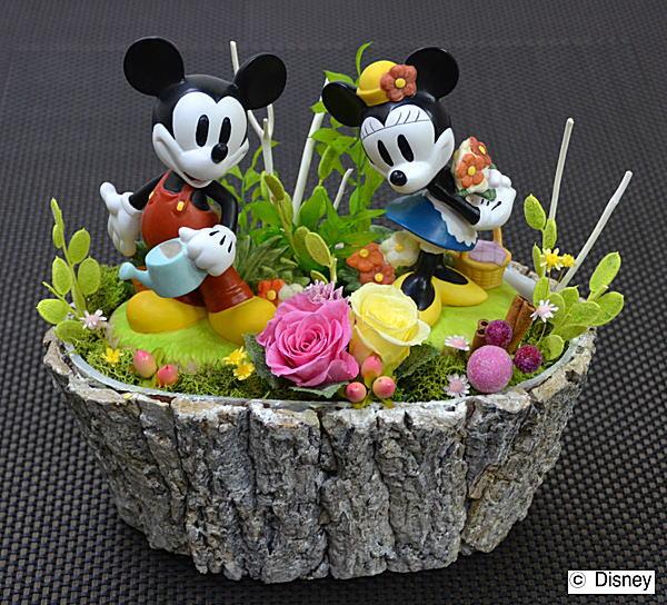 プリザーブドフラワーディズニーキャラクターアレンジバラが咲いた♪敬老の日 誕生日祝い結婚祝い 贈り物