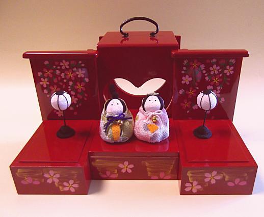 遊山箱(ゆうざんばこ) お雛飾りハート