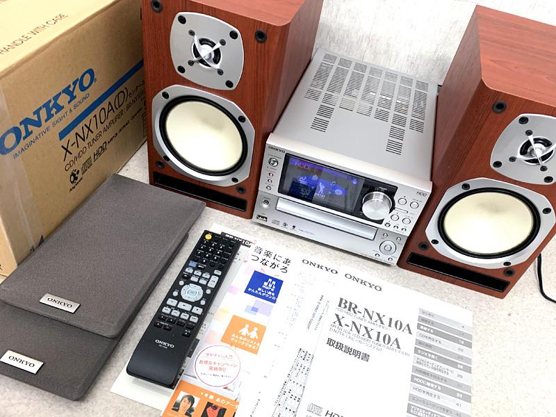 M4625●ONKYO X-NX10A HDD/CDコンポ リモコン・取扱説明書付き オンキョー●0424【中古】
