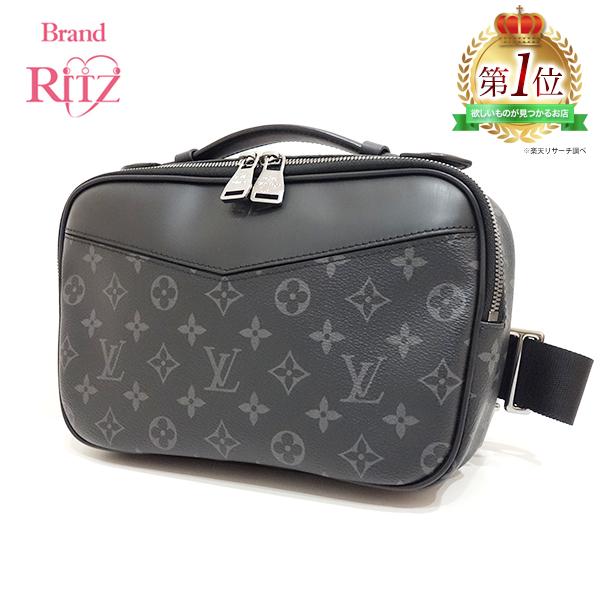 Used Louis Vuitton Bags >> Used Louis Vuitton Bag Body Bag Waist Porch Clutch Bam Bag 3way Monogram Eclipse M42906 Men Louisvuitton Is Used
