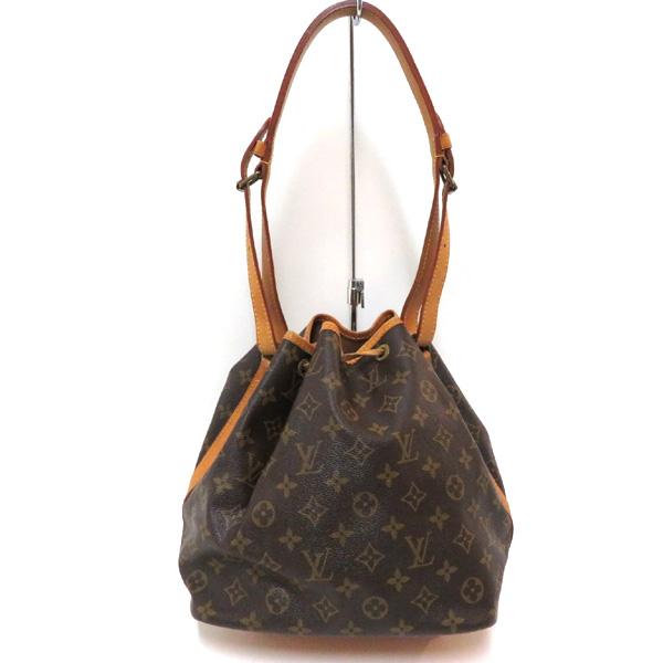 Used Louis Vuitton Purses >> Used Louis Vuitton Monogram Petit Noe One Shoulder Bag B Rank Drawstring Purse M42226 Lady S