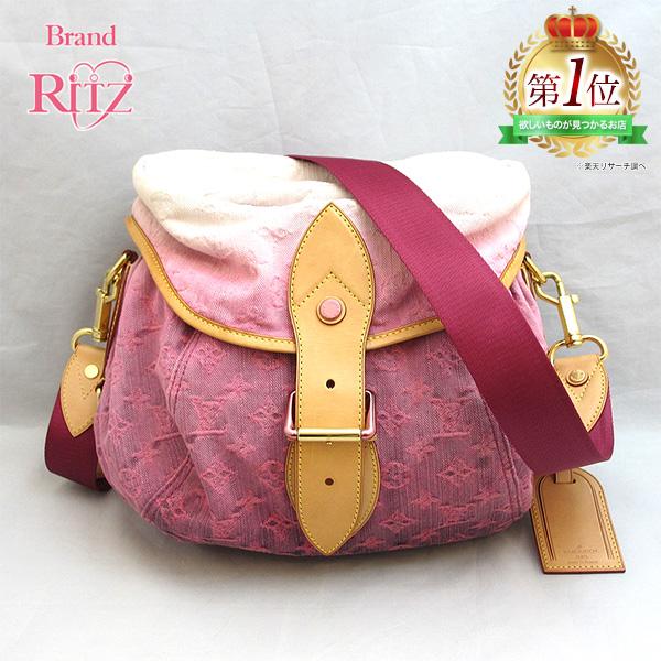 9de8c6b4962a Louis Vuitton bag monogram denim sunshine shoulder M93183 AB rank rose pink  Lady s LOUISVUITTON