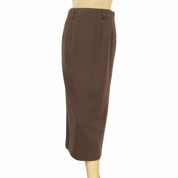 【中古】ビスケー BC ami 暖かロングスカート Sサイズ相当 ブラウン系 ウール100% ベルト通し付き お出掛け 通勤などにも 秋冬 レディース