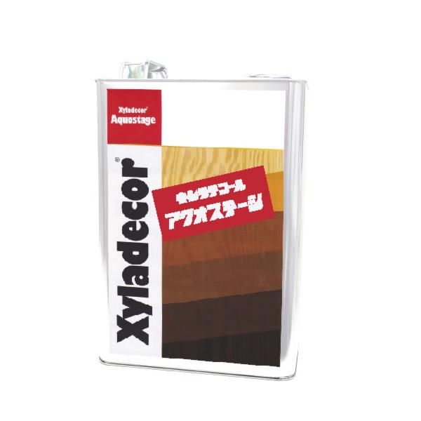 キシラデコール アクオステージ 411 ウォルナット [3.5kg] XyLadecor 水性 屋外木部用 木材保護塗料
