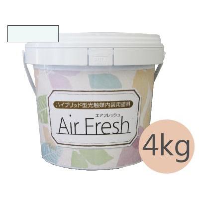 イサム AirFresh (エアフレッシュ) Shiro~白のやさしさ~ NO.008アクアミスト [4kg] イサム塗料 ハイブリッド型光触媒内装用塗料 消臭効果 抗菌効果 抗カビ効果 ウイルス抑制効果