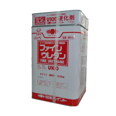【送料無料】 ニッペ ファインウレタンU100 (弾性硬化剤) ホワイト(ND-101) [15kgセット] 日本ペイント
